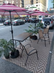 Friends Center's mini-park for Parking Day 2016