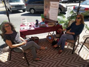 Volunteers from CASA and FAHE helped staff the parklet
