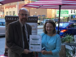 Staff from Friends Center and Friends Council on Education at Parking Day
