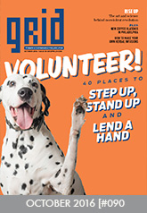 Cover of Grid Magazine, October 2016, Volunteer!